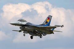 För flygvapenGeneral Dynamics F-16AM för belgisk luft del- belgiskt flygplan för kämpe för falk stridighet Fotografering för Bildbyråer
