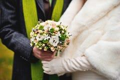 för fokusförgrund för 3 bukett bröllop Royaltyfri Foto