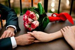 för fokusförgrund för 3 bukett bröllop Royaltyfria Foton
