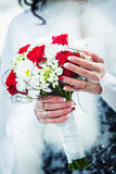 för fokusförgrund för 3 bukett bröllop arkivbilder