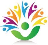 För folk logo tillsammans vektor illustrationer