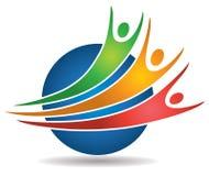 För folk logo tillsammans royaltyfri illustrationer