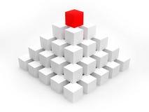 för folkmassa överkant för pyramid ut plattform Arkivbilder