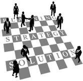 för folkplanläggning för schack mänsklig strategi för lösning stock illustrationer