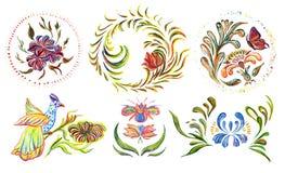 för folkprydnad för konst keramisk ukrainare för krukmakeri Fotografering för Bildbyråer