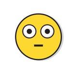 För folksinnesrörelse för gul ledsen framsida chockad negativ symbol Arkivbild