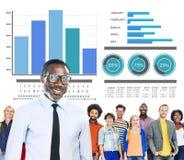 För folkstrategi för mångfald tillfälligt ledarskap Team Concept Arkivfoton