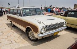 För Ford för tappning som 1963 vagn för patron (USA) falk framläggas på oldtimerbilshow, Israel arkivbilder