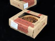För formatpecannöt för bageri den individuella pajen Arkivfoton