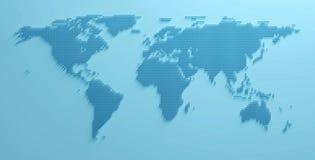 För formbild för världskarta 3D illustration royaltyfria bilder