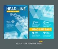För formbroschyr för vektor abstrakt geometrisk reklamblad vektor illustrationer