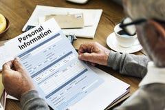 För formidentitet för personlig information begrepp Arkivfoton