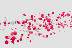 För formobjekt för abstrakt rosa bakgrund modern flöte i luften, b Royaltyfria Bilder