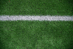 för fotbollband för fält grön white Arkivbilder