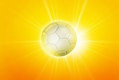 för fotbollguld för boll 3d fotboll för illustration guld- Fotografering för Bildbyråer