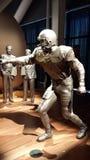 För fotbollmuseum för SF 49ER statyer Joe Montana 2 royaltyfria bilder