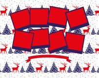 För fotocollage för jul och för nytt år vektor 2019 stock illustrationer