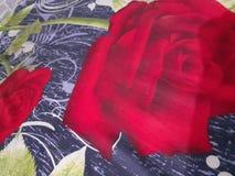 för fotodesign för röda rosor målning arkivfoton