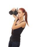 för fotografredhead för caucasian fit barn Arkivfoto