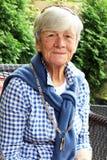 för fotopensionär för 93 lady gammalt år Arkivbilder