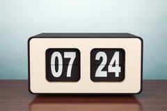 för fotostil för fall gammal town Tappning Flip Clock vektor illustrationer