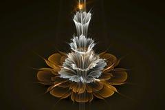 för fractalblomma för abstrakt begrepp 3D frambragd bild dator Royaltyfri Fotografi
