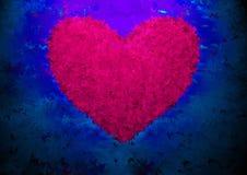 för fractalhjärta för bakgrund etc royaltyfri illustrationer