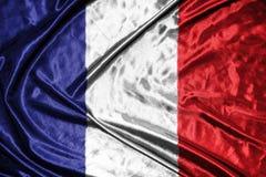 för france för tillgänglig flagga vektor glass stil flagga på bakgrund Arkivbilder