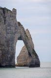 för france normandy för klippaetretat berömd tide hav Royaltyfri Foto