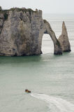 för france normandy för klippaetretat berömd tide hav Royaltyfri Bild