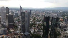 för frankfurt för område finansiella skyskrapor horisont Royaltyfri Foto