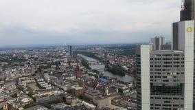 för frankfurt för område finansiella skyskrapor horisont Royaltyfria Foton