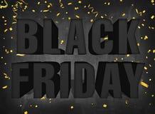 För fredag för text svart tecken stort försäljning på mörka svart tavlabakgrundswi stock illustrationer