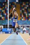 För friidrottrekord för turkisk idrotts- federation inomhus lopp för försök Royaltyfria Bilder