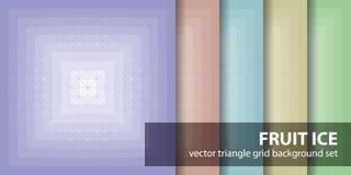 Is för frukt för triangelmodelluppsättning seamless vektor för bakgrunder vektor illustrationer