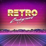 för futurismscience fiction för 80-tal Retro bakgrund Royaltyfri Foto