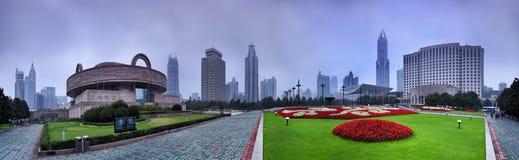 För fyrkantlöneförhöjning för CN Shanghai panna Arkivfoto