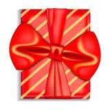 För gåvaask för Xmas röd symbol, realistisk stil vektor illustrationer