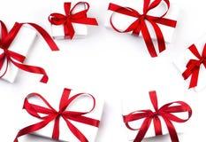 för gåvabild för ask 3d white Arkivfoton