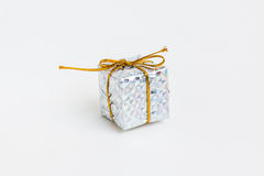 för gåvabild för ask 3d white Royaltyfri Bild