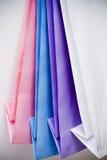 för gåvapapper för påsar färgad pastell Arkivbild