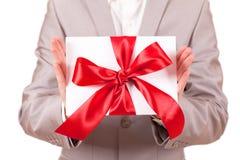 för gåvared för bow dekorativt band Royaltyfri Fotografi