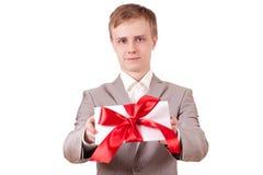 för gåvared för bow dekorativt band Arkivbilder