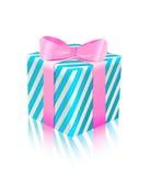 för gåvasymbol för blå ask pink Royaltyfri Fotografi