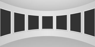 för galleribild för bakgrund 3d framförd interior stock illustrationer