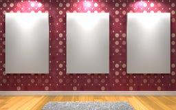 för galleribild för bakgrund 3d framförd interior Arkivfoton