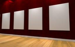 för galleribild för bakgrund 3d framförd interior Arkivbilder