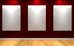 för galleribild för bakgrund 3d framförd interior Royaltyfri Foto