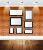 för galleribild för bakgrund 3d framförd interior royaltyfri illustrationer