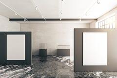 för galleribild för bakgrund 3d framförd interior Royaltyfria Bilder